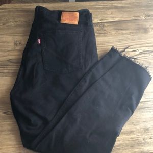 Levi's wedgie skinny black with rips